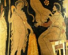 Iásón přináší Peleovi zlaté rouno